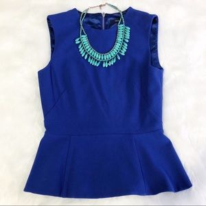 French Connection • Blue Peplum Top